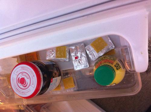 冷蔵庫でばらけるからし